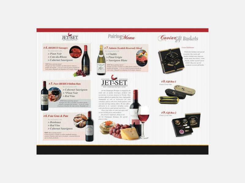Jet Set Wine Brochure